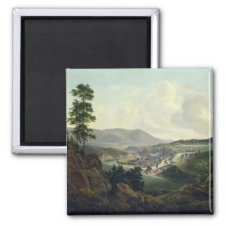 Saw Mill in Norway, 1827 2 Inch Square Magnet