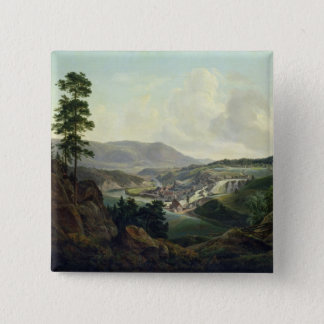 Saw Mill in Norway, 1827 Pinback Button