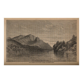 Saw-Teeth Mountain - Upper Ausable Pond Poster