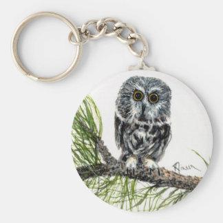 Saw Whet Owl keychain