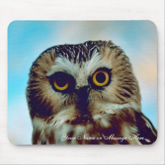 Saw-whet owl mouse pad