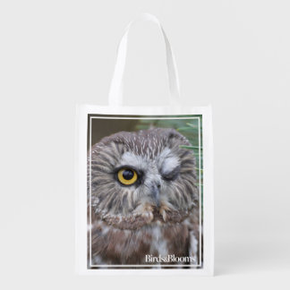 Saw-whet Owl Reusable Grocery Bag