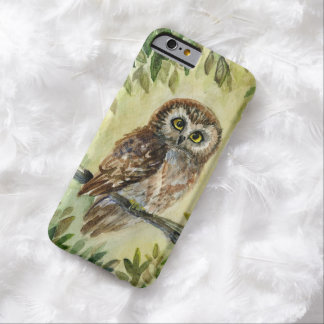 Saw Whet Owl watercolor painting Barely There iPhone 6 Case