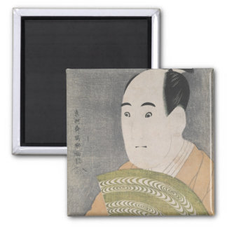Sawamura Sojuro III in the Role of Ogishi 2 Inch Square Magnet