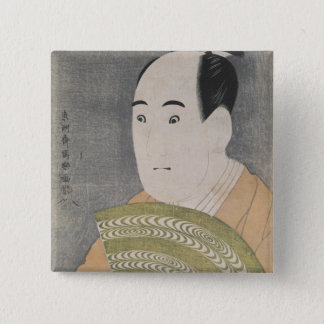 Sawamura Sojuro III in the Role of Ogishi Pinback Button