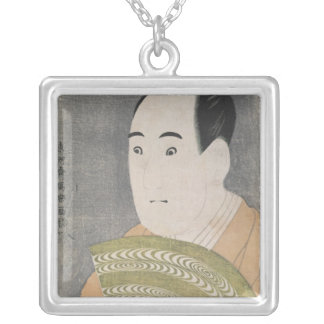 Sawamura Sojuro III in the Role of Ogishi Square Pendant Necklace