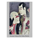 Sawamura Yodogoro II by Toshusai Sharaku Greeting Card