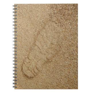 Sawdust Boot Print Photo Notebook