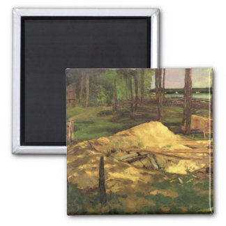 Sawdust Pit, 1876 2 Inch Square Magnet