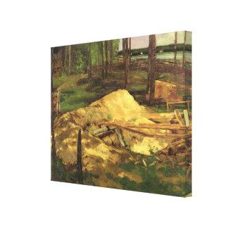 Sawdust Pit, 1876 Canvas Print