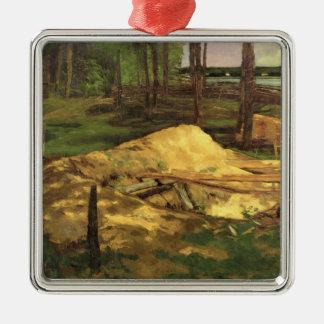 Sawdust Pit, 1876 Metal Ornament