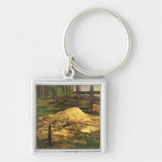 Sawdust Pit, 1876 Silver-Colored Square Keychain