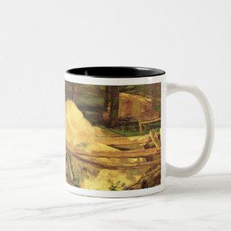 Sawdust Pit, 1876 Two-Tone Coffee Mug