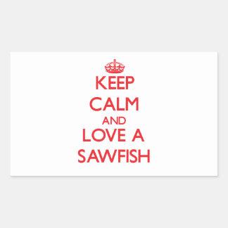 Sawfish Rectangular Pegatinas