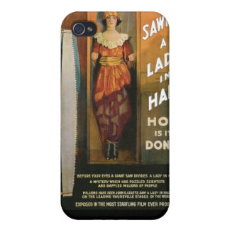 Sawing A Lady In Half ~ Magician Vintage Magic Act iPhone 4 Case