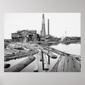 Sawmill, Marquette, Michigan, 1905 Posters