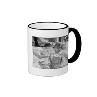 Sawmill Worker: 1930s Ringer Coffee Mug