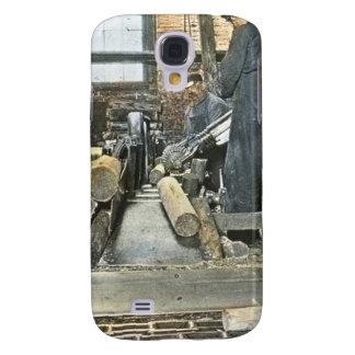 Sawmill Workers Magic Lantern Slide 2 Samsung Galaxy S4 Case