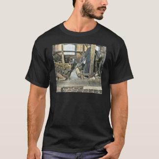 Sawmill Workers Magic Lantern Slide 2 T-Shirt