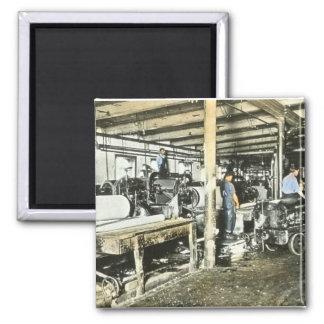 Sawmill Workers Magic Lantern Slide 6 Magnet