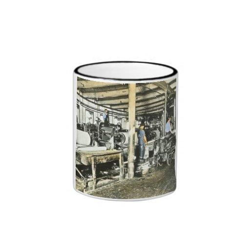 Sawmill Workers Magic Lantern Slide 6 Ringer Mug
