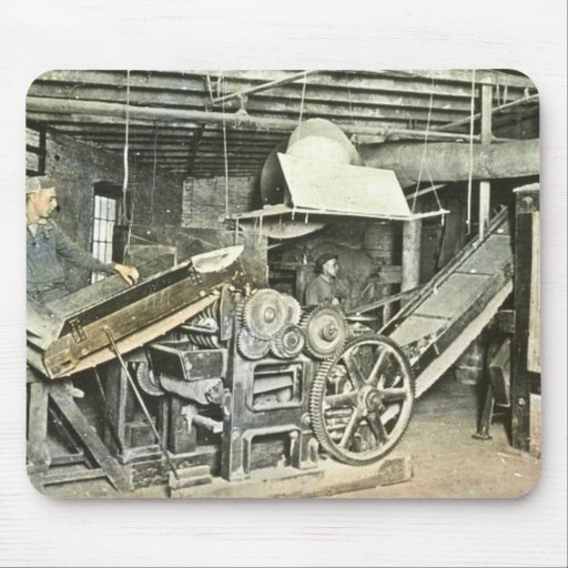 Sawmill Workers Magic Lantern Slide Mouse Pad