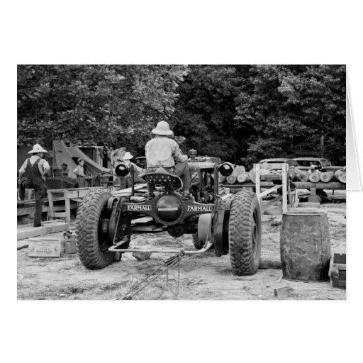 Sawmill Workhorse, 1936 Greeting Card