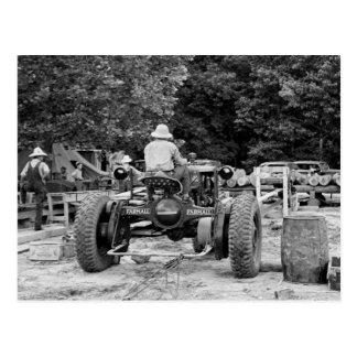 Sawmill Workhorse, 1936 Postcard