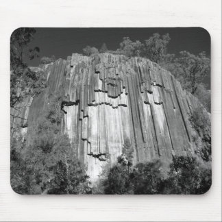Sawn Rocks B&W Mouse Pad