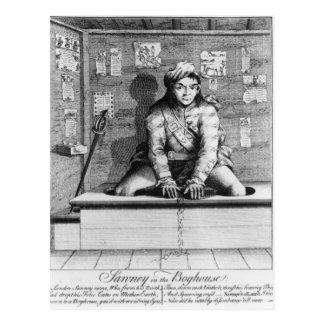 Sawney in the Boghouse, 1745 Postcard