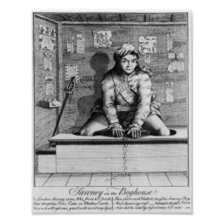 Sawney in the Boghouse, 1745 Poster
