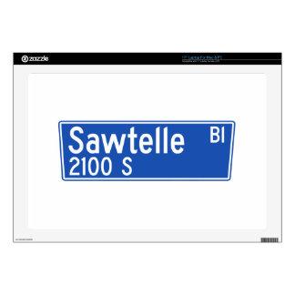 "Sawtelle Boulevard, Los Angeles, CA Street Sign Skin For 17"" Laptop"