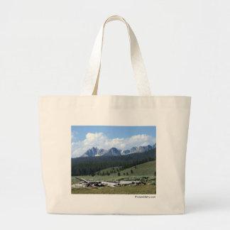 Sawtooth Mountains Large Tote Bag