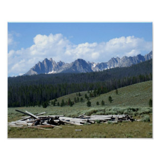 Sawtooth Mountains Print