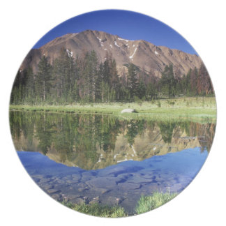 Sawtooth Mountains reflected in Fourth of July Melamine Plate