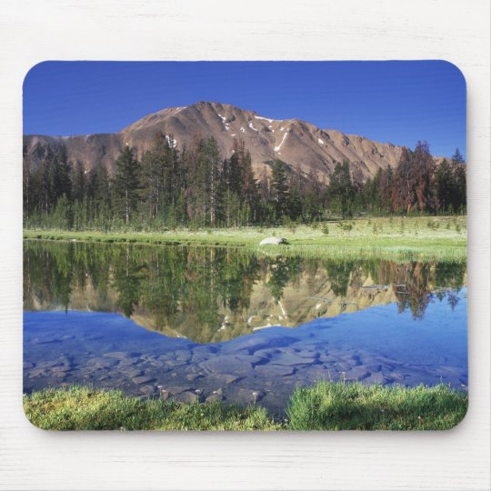 Sawtooth Mountains reflected in Fourth of July Mouse Pad