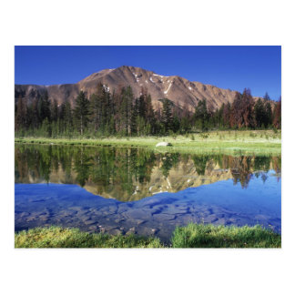 Sawtooth Mountains reflected in Fourth of July Postcard