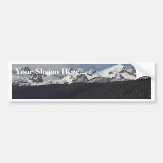 Sawtooth Mountains Snow Peaks Bumper Sticker