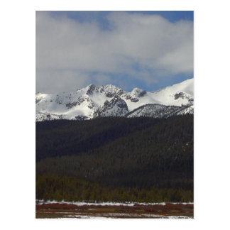 Sawtooth Mountains Snow Peaks Postcard