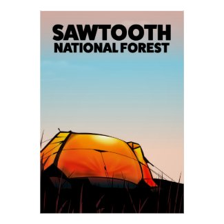 Sawtooth National Forest Travel poster