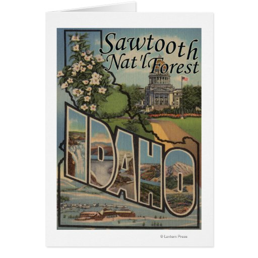 Sawtooth Nat'l Forest, Idaho - Large Letter Greeting Card