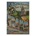Sawtooth Nat'l Forest, Idaho - Large Letter Print