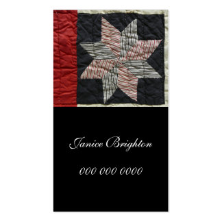 Sawtooth Star Double-Sided Standard Business Cards (Pack Of 100)
