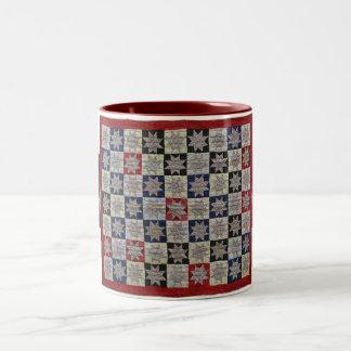 Sawtooth Star Two-Tone Coffee Mug