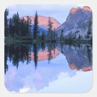 Sawtooth Wilderness, Idaho. USA. Cumulus Square Sticker