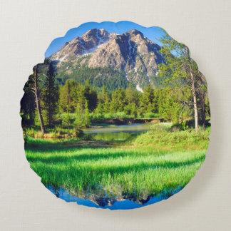 Sawtooth Wilderness Round Pillow