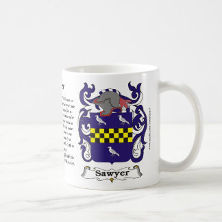 Sawyer Family Coat of Arms Mug