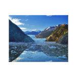 Sawyer Glacier Alaska at Sunrise Stretched Canvas Prints