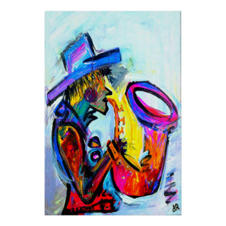 sax an abstract 24x36 poster