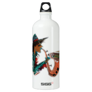 sax an abstract water bottle